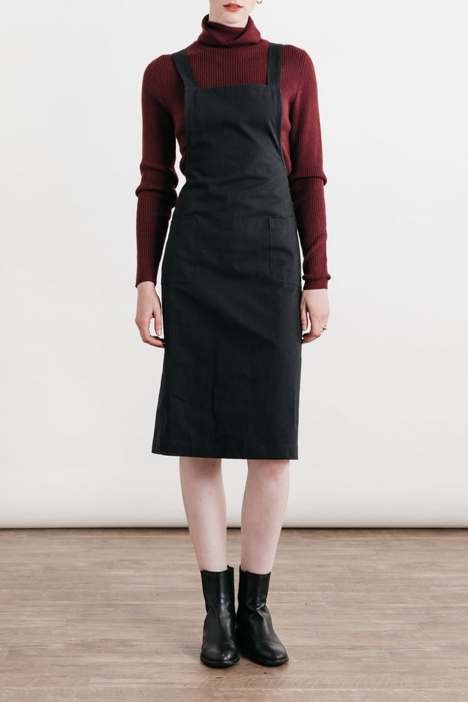 Davis Black Bridge & Burn women's apron-style dress