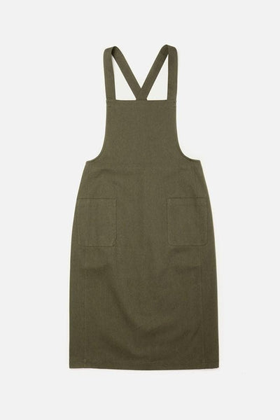 Davis Olive Bridge & Burn women's apron-style dress
