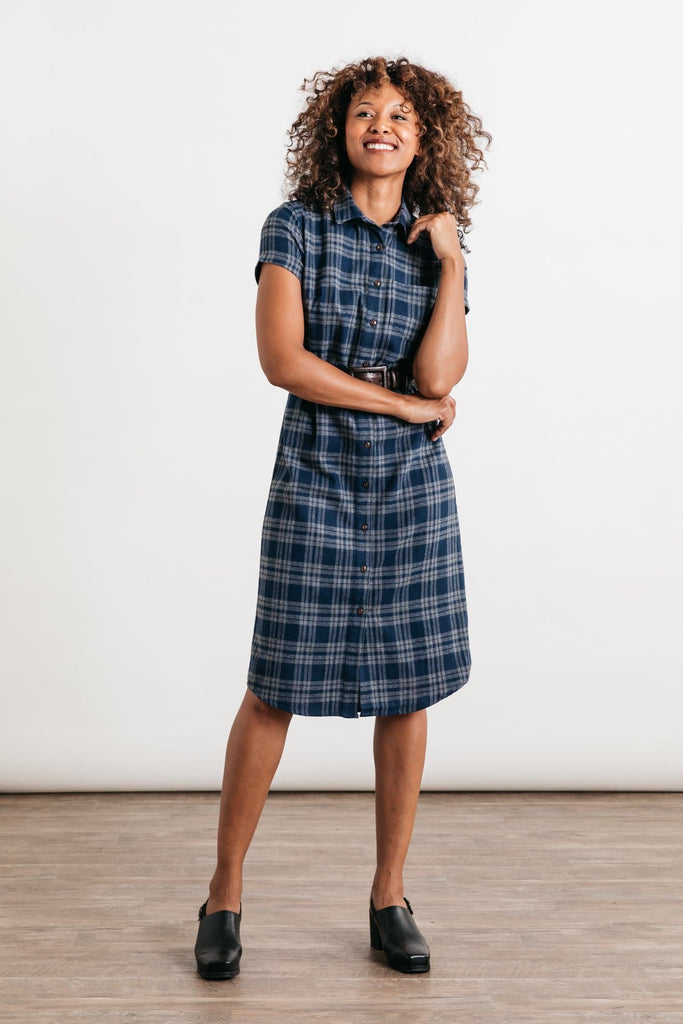 Tula Navy-Grey Plaid