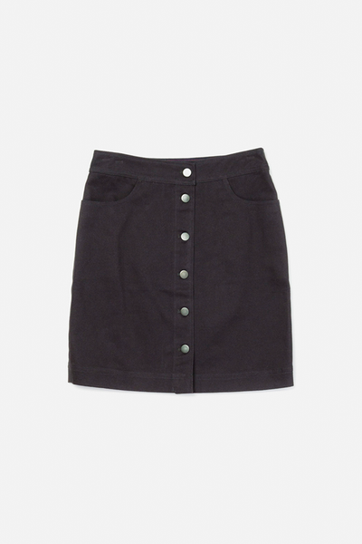 Jolene Navy Bridge & Burn women's button front skirt