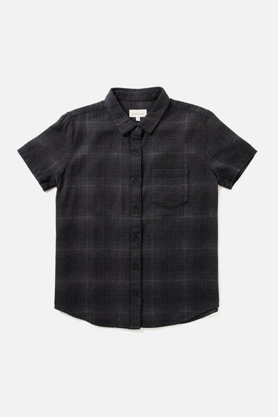 Lana Black Grey Twill Plaid