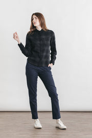 Ash Black Twill Plaid