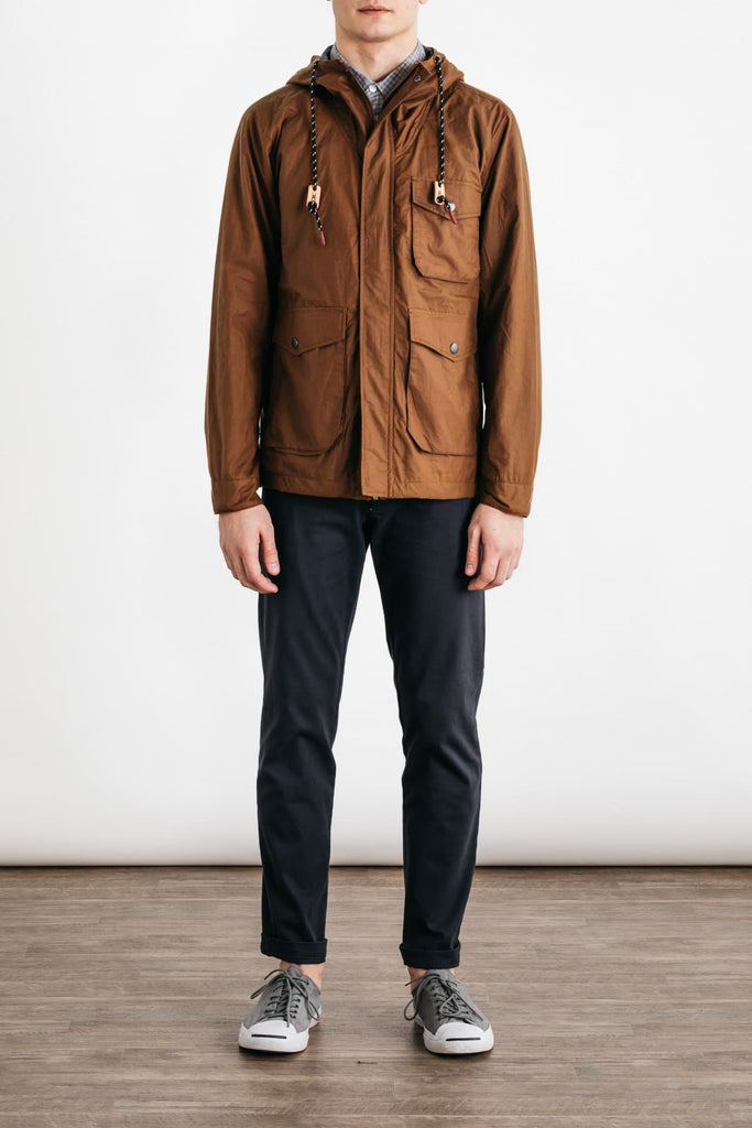 Bridge & Burn sherman cedarwood lightweight wax jacket mens