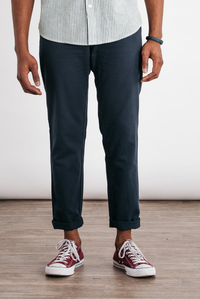 Bridge & Burn straight fit chinos Tabor navy