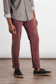 Bridge & Burn straight fit chinos Tabor washed red