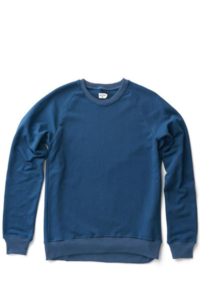 Bridge & Burn fremont teal men's pullover crew neck sweatshirt