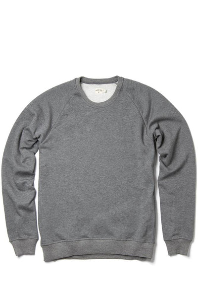 Bridge & Burn fremont grey men's pullover crew neck sweatshirt