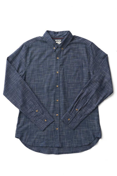Bridge & Burn sutton navy grid men's cotton button down shirts