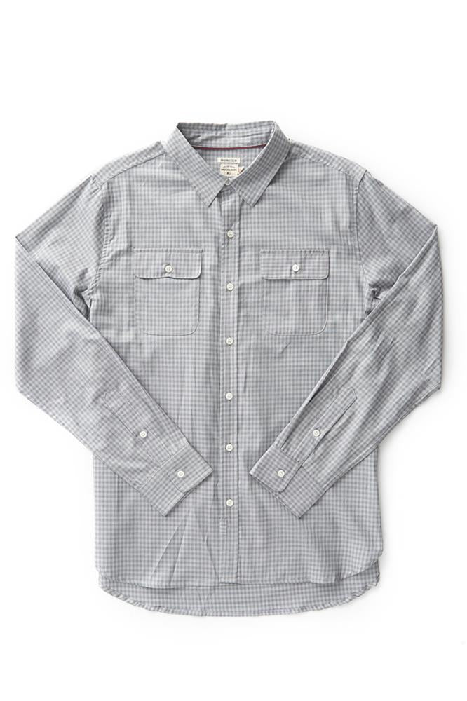 Bridge & Burn cole grey flannel shirt mens