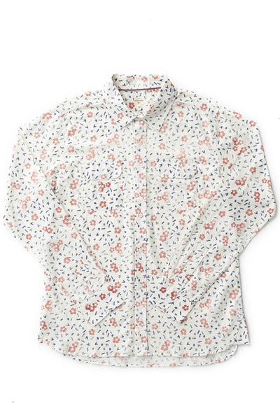 Bridge & Burn cole hibiscus print floral shirt mens