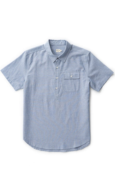 Bridge & Burn placket shirt Gary blue