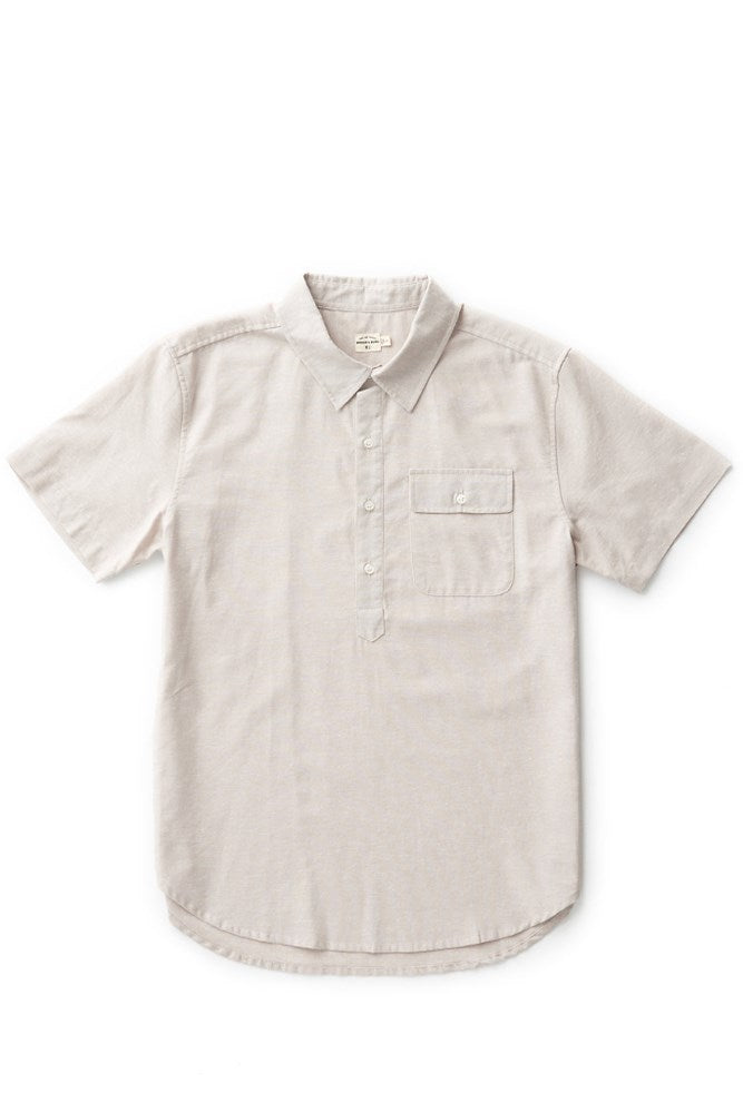 Bridge & Burn placket shirt Gary tan