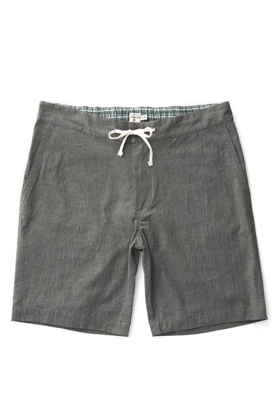 Bridge & Burn mens cotton drawstring shorts Norton charcoal heather