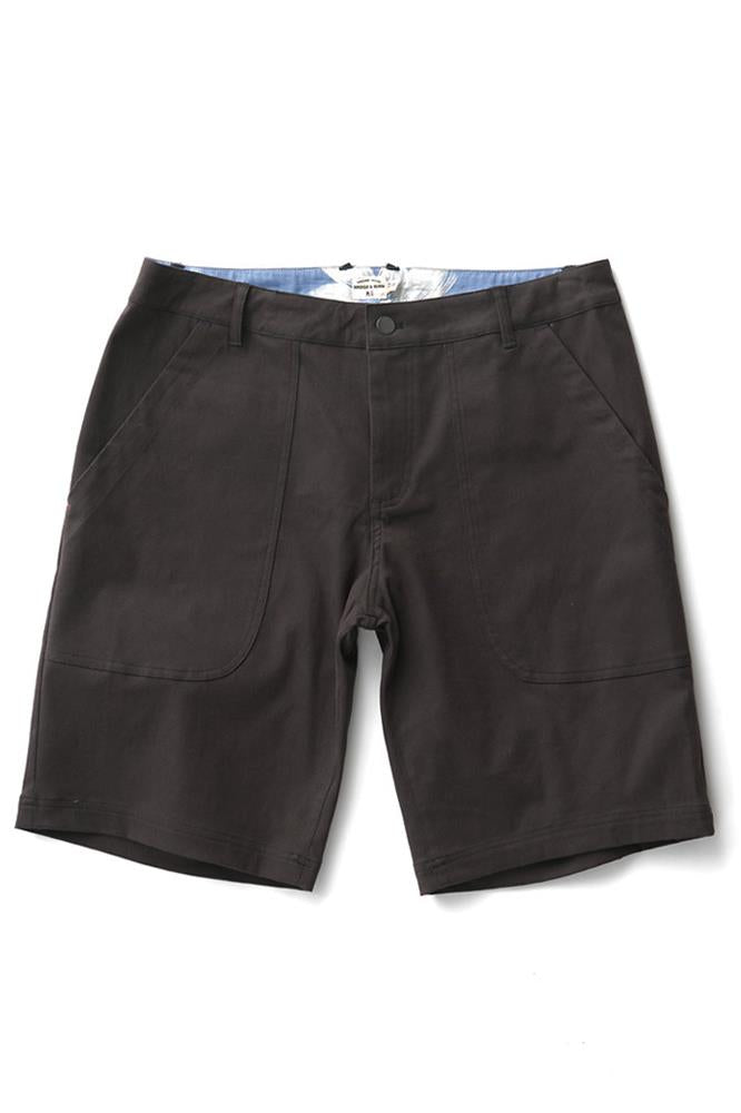 Bridge & Burn parker charcoal mens stretch shorts