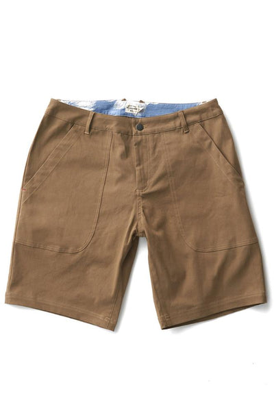 Bridge & Burn parker tan mens stretch shorts