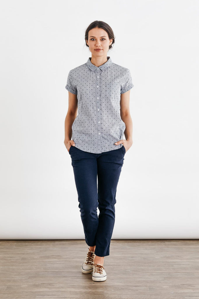 Bea Textured Chambray Dot