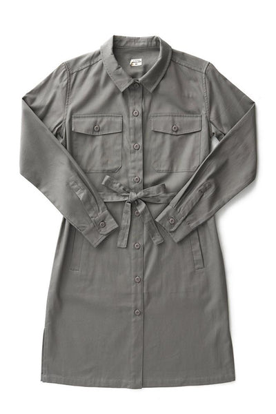 Bridge & Burn women's trench coat water resistant Keller grey