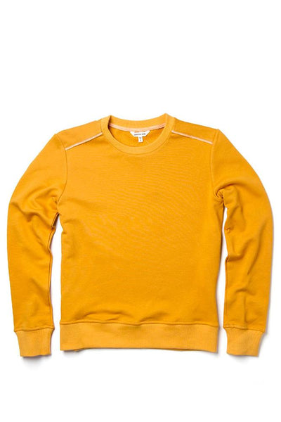 Bridge & Burn nina gold women's plain crew neck sweatshirts