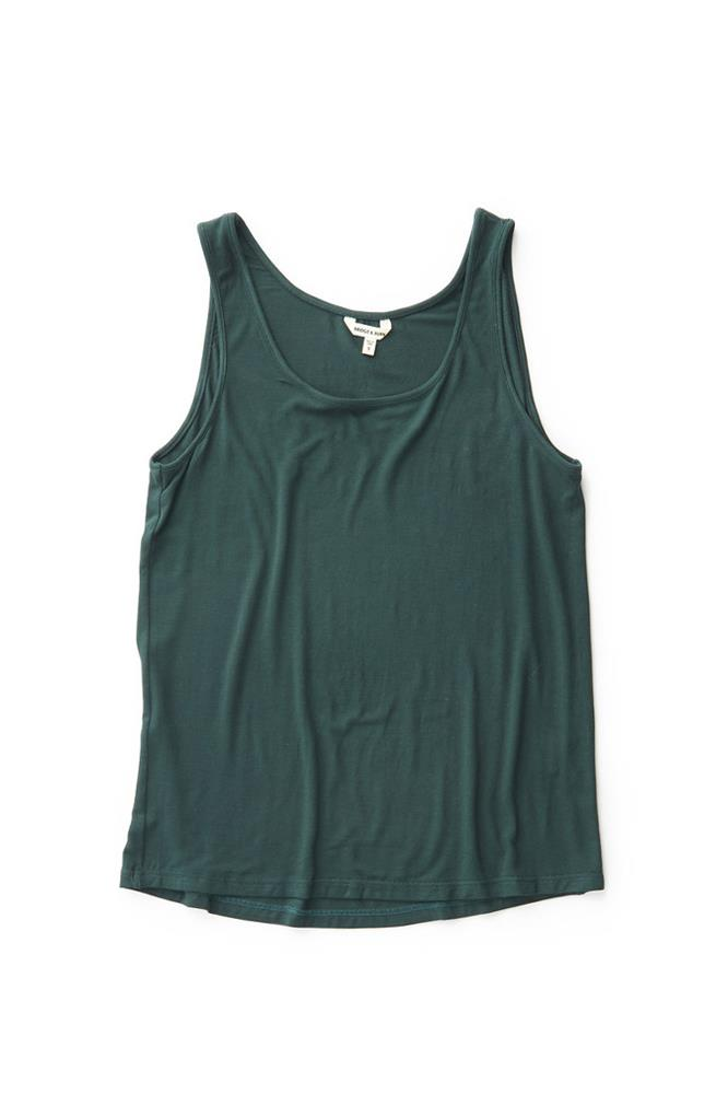 Bridge & Burn women's teal tencel racerback tank top Lyle Dark Teal