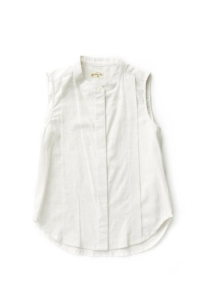 Bridge & Burn white sleeveless blouse Hazel Natural