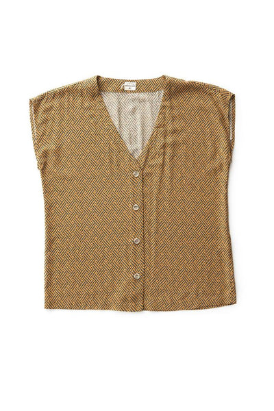 Bridge & Burn nora gold geo box cut shirt