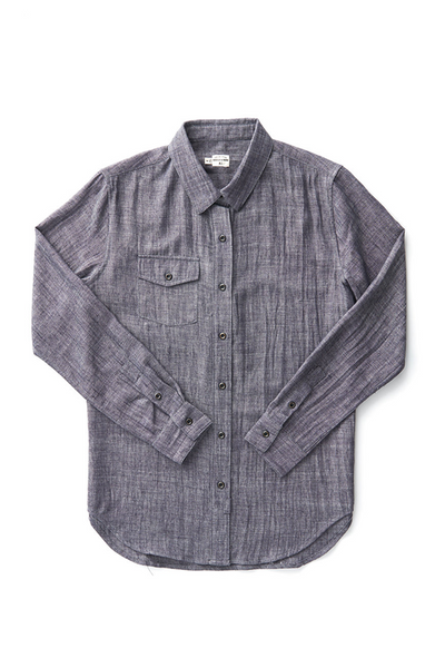 Bridge & Burn robin charcoal slub button down shirt