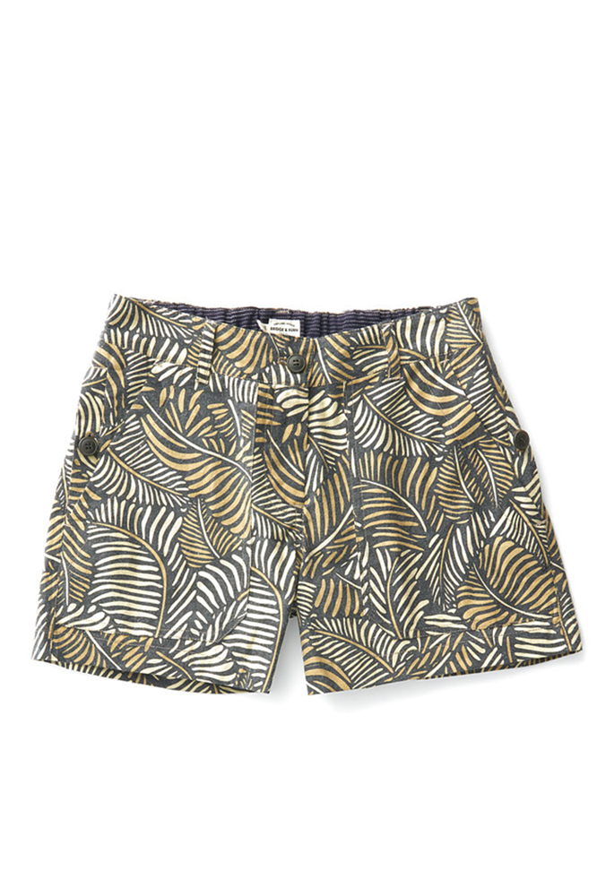 Bridge & Burn palm print shorts Tilda camo print