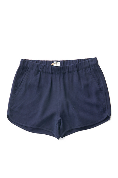 Bridge & Burn women's elastic waist shorts Luca Navy