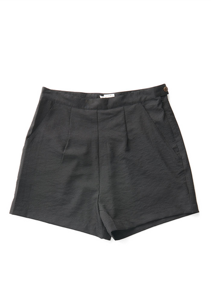 Bridge & Burn freya black seersuscker tailored shorts womens