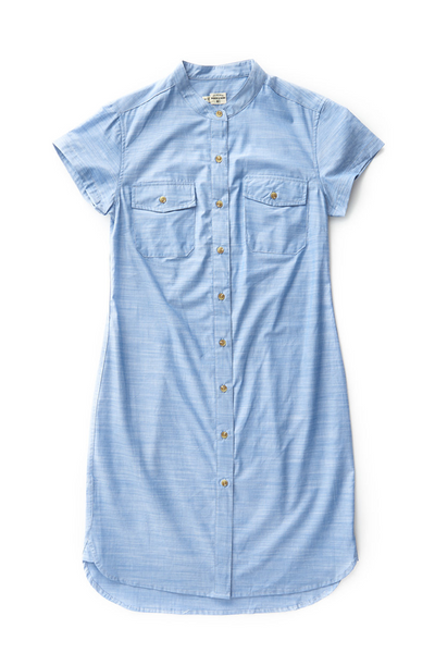 Bridge & Burn Cotton button down shirt dress Clyde Chambray