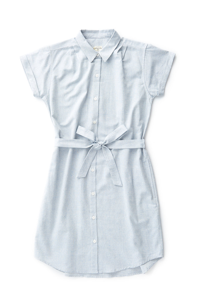 Bridge & Burn merit belted shirt dress