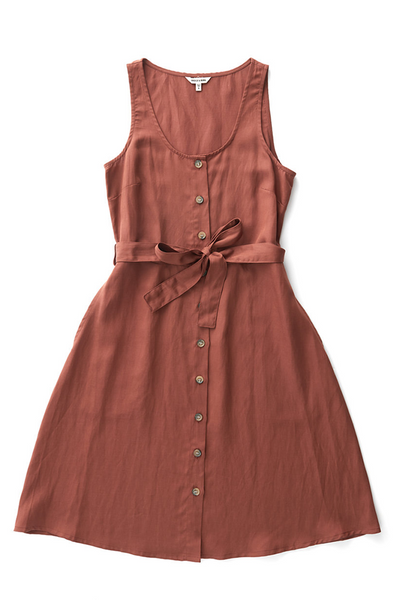 Bridge & Burn tencel dress Aletta copper