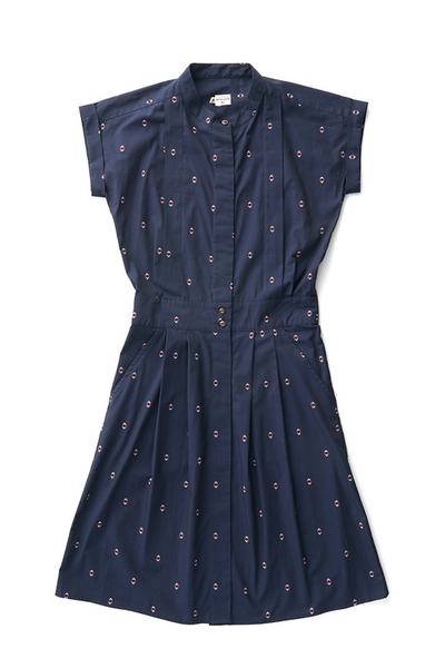 Bridge & Burn fit and flare shirt dress Gwen Navy Diamonds
