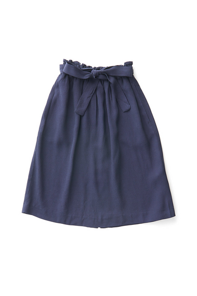 Bridge & Burn smocked waist skirt Allen Navy