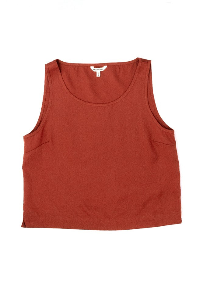 Bridge & Burn womens tencel tank top Meridian garnet