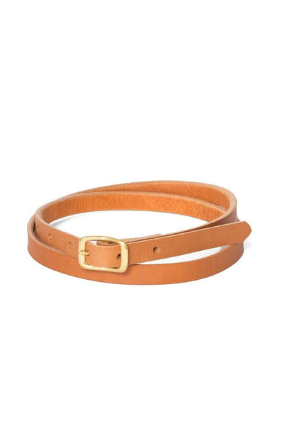 Wood & Faulk Matchstick Belt Tan - Women's