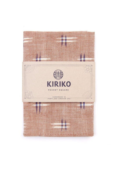 Kiriko Kasuri Pocket Square Tan