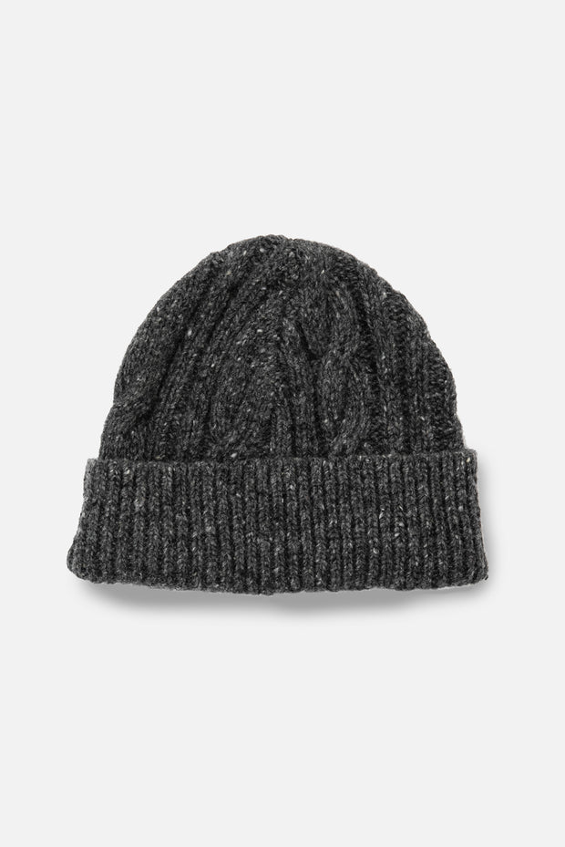 Cable Beanie Charcoal
