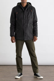 British Millerain Waxed Canvas Insulated Parka