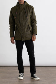 Olive Waxed Cotton Heavy Duty Parka