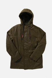 Olive Waxed Cotton Heavy Duty Rain Parka