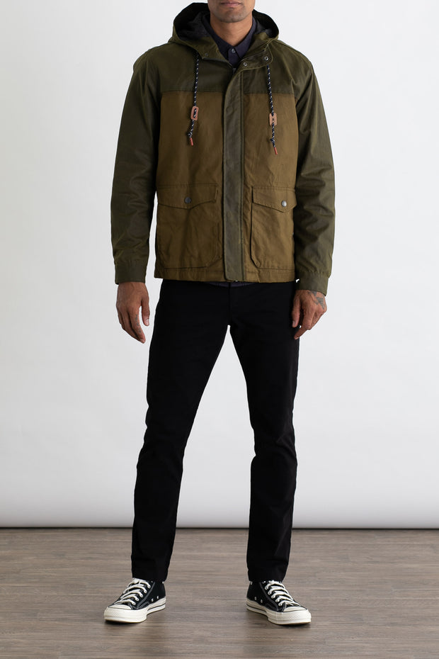 Marshall Olive Waxed Cotton Rain Jacket