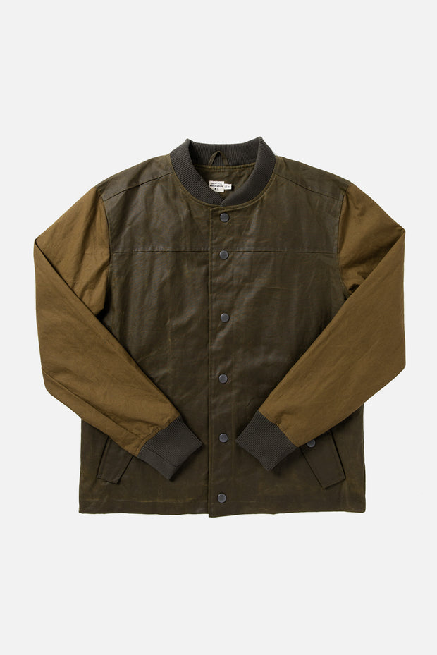 Waxed Cotton Varsity Jacket