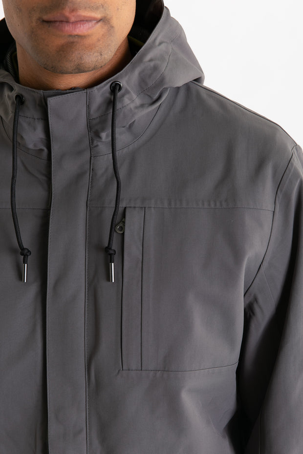 Stanton Recycled Rain Jacket Charcoal