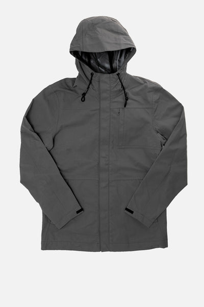 Stanton Charcoal Recycled Men's Waterproof Rain Jacket
