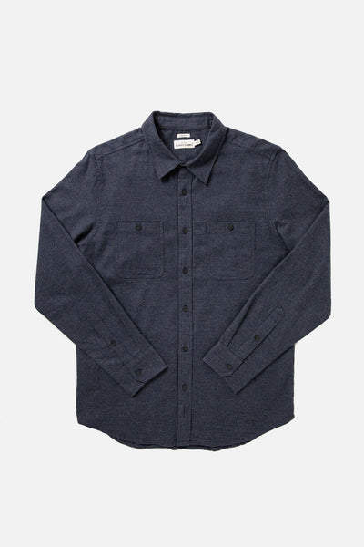 Men's Navy Houndstooth Flannel Shirt