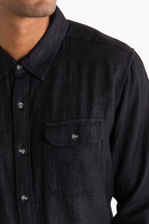 Cole Charcoal Doublecloth