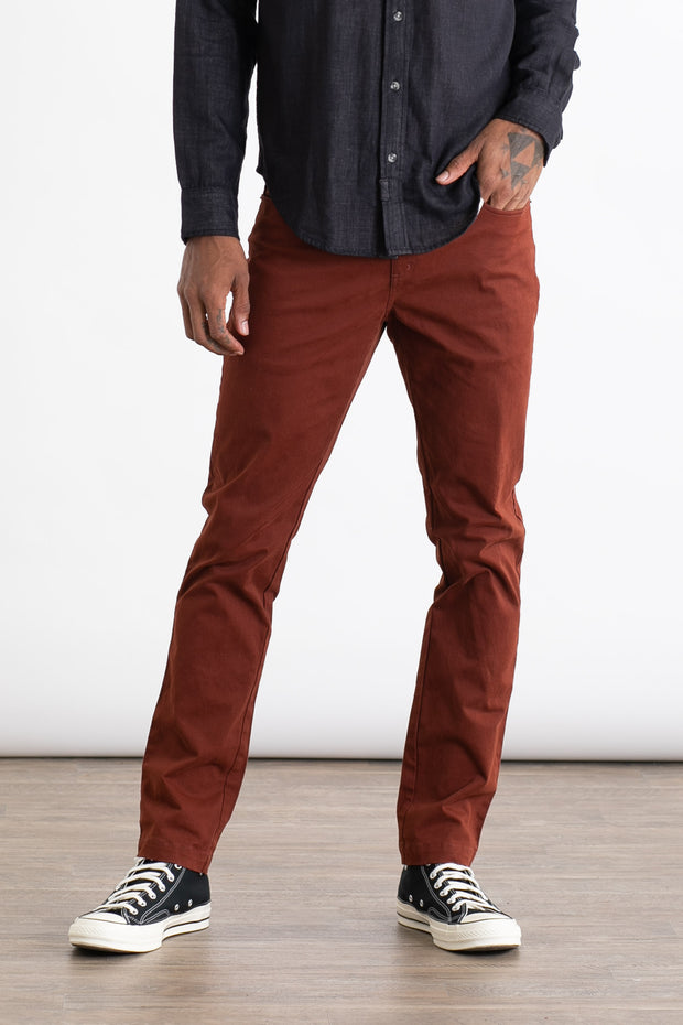 Men's Slim Fit Pant Burgundy