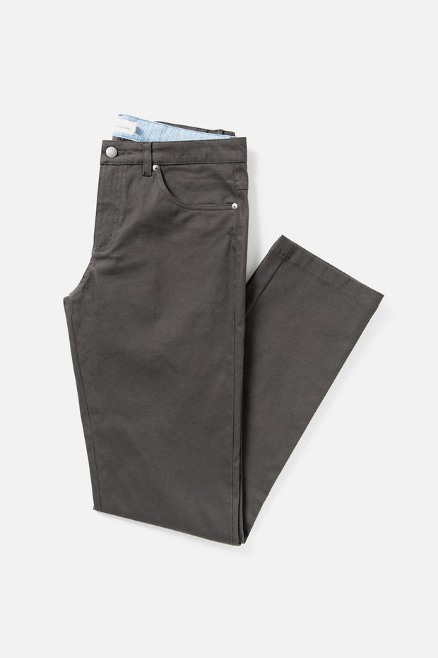 Men's Grey Straight Fit Cotton-blend Pant