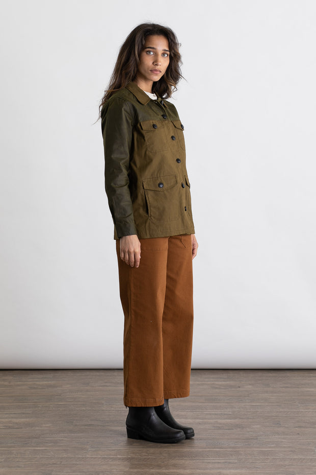 Engleman Olive Colorblock